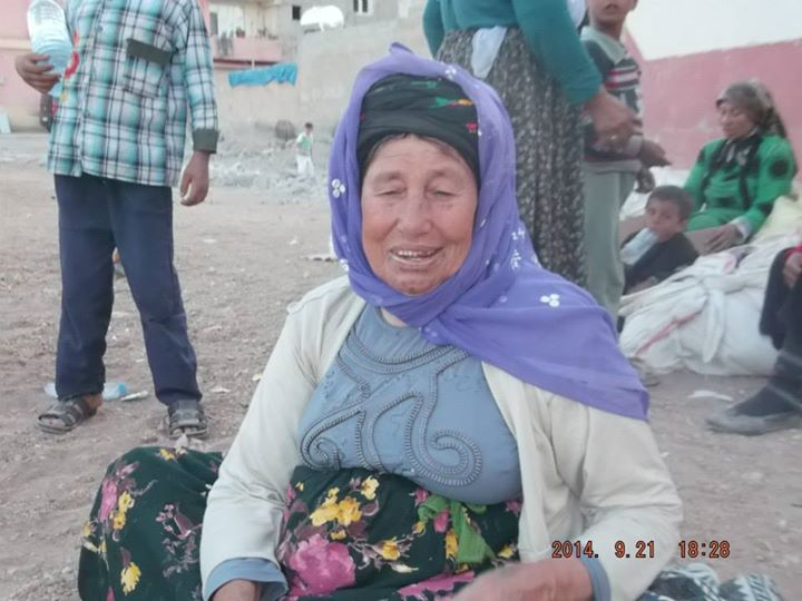 Kurdische Frau aus Kobane in Gaziantep